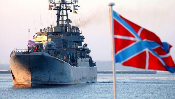 Buque de desembarco Kaliningrado en el puerto militar de Baltiysk - Sputnik Mundo