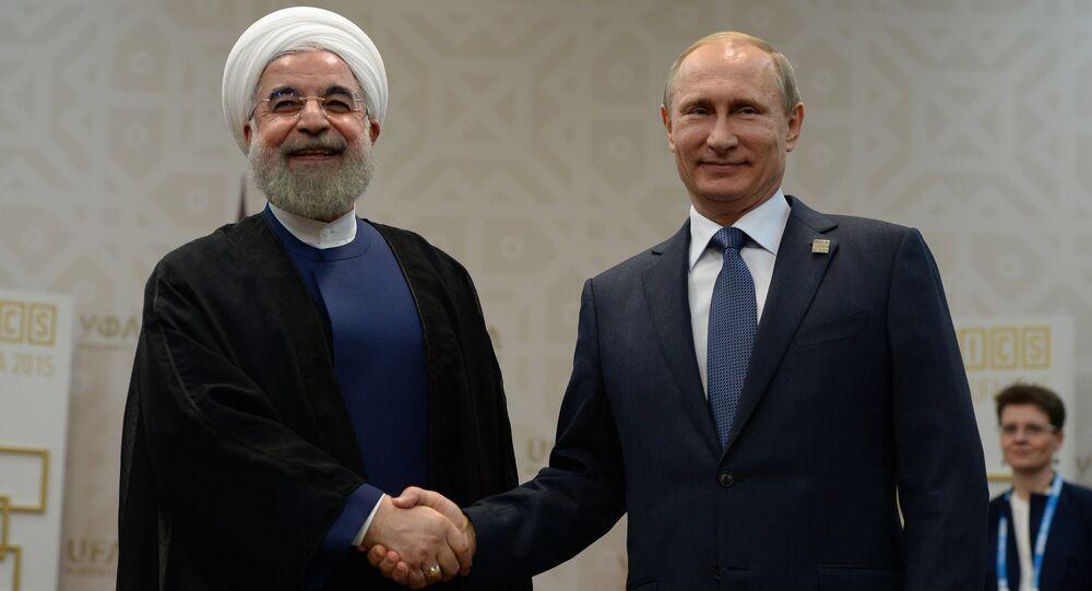 Presidente de Irán, Hasán Rouhaní, y presidente de Rusia, Vladímir Putin (Archivo)