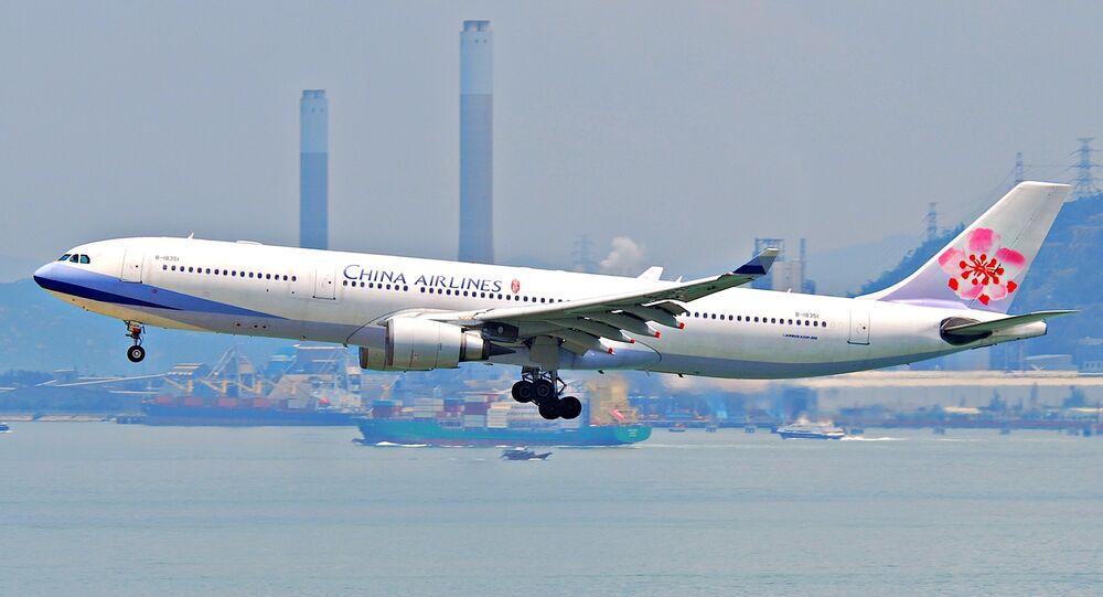 Un avión de la compañía aérea China Airlines