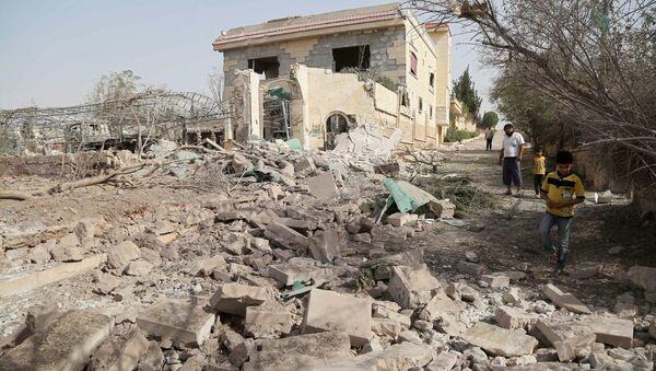 Edificios destruidos en Alepo, Siria - Sputnik Mundo