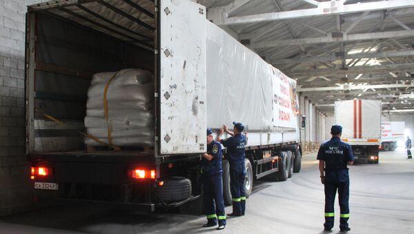 Convoy humanitario ruso en Donbás - Sputnik Mundo