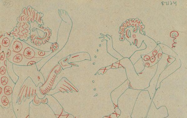 Serguéi Eisenstein. Zeus y Ganímedes, 1934 - Sputnik Mundo