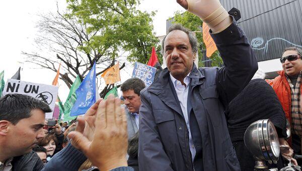Daniel Scioli, candidato presidencial del gobernante Frente para la Victoria (FpV) de Argentina - Sputnik Mundo