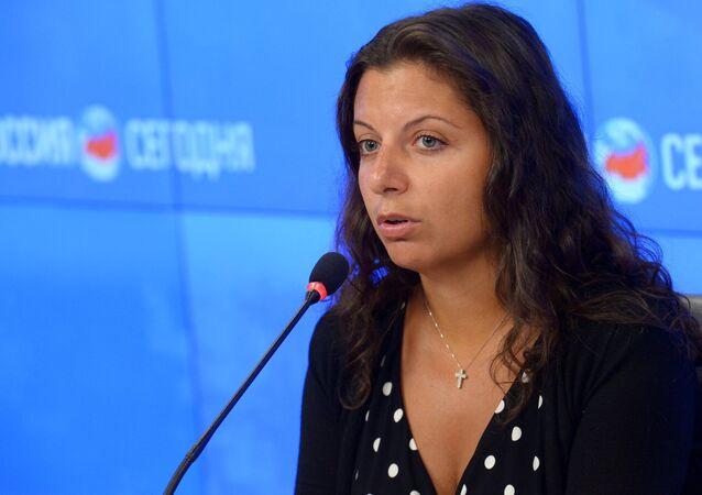 Margarita Simonián, directora de la agencia Sputnik y de RT