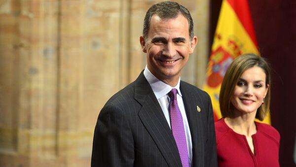 Rey Felipe VI y reina Letizia en la entrega de los Premios Princesa de Asturias - Sputnik Mundo