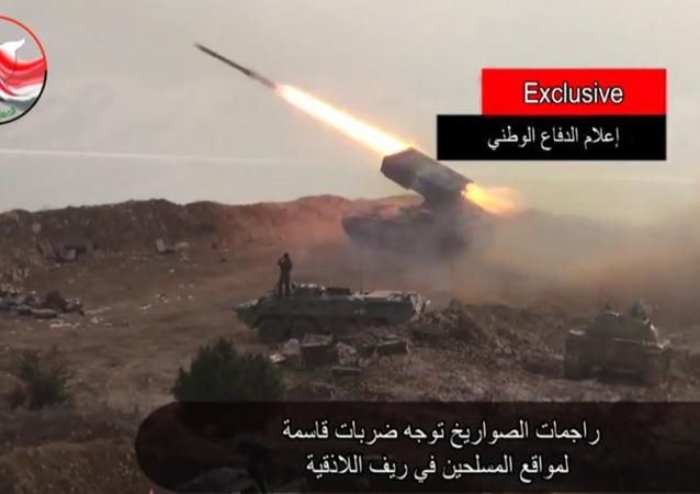 Ataque contra el EI con vehículo lanzallamas