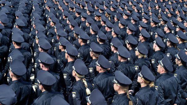 La policía de Kiev, Ucrania (archivo) - Sputnik Mundo