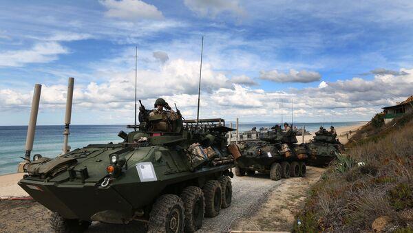 Soldados de EEUU participan en las maniobras de la OTAN Trident Juncture 2015 - Sputnik Mundo