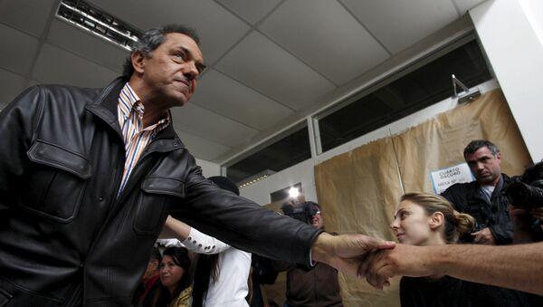 Daniel Scioli, candidato presidencial oficialista - Sputnik Mundo