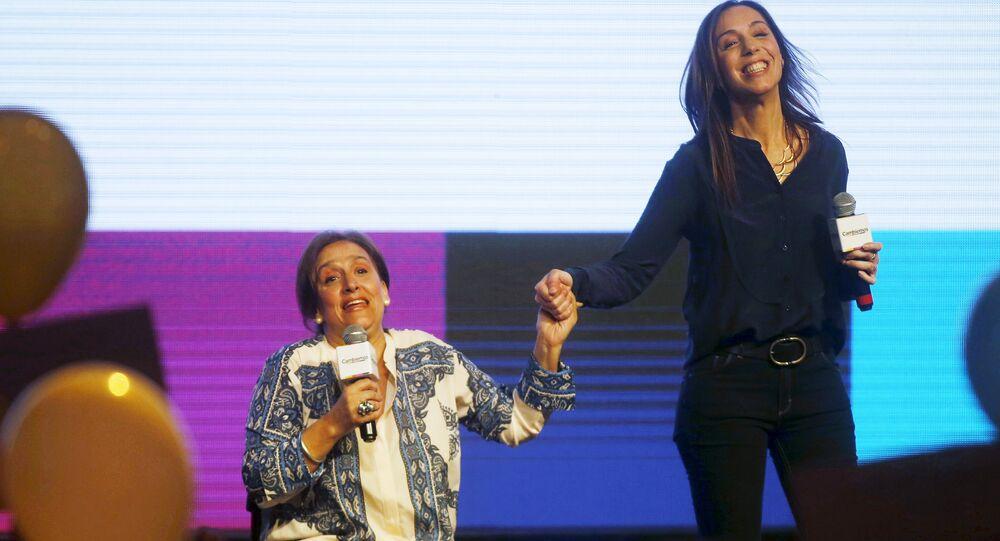 Candidata a vicepresidenta Gabriela Michetti y andidata a gobernar la provincia de Buenos Aires María Eugenia Vidal