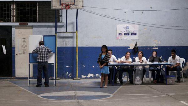 Cierran centros de votación en balotaje para presidencia en Guatemala - Sputnik Mundo