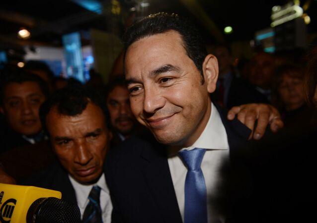 Jimmy Morales, candidato a la presidencia en Guatemala