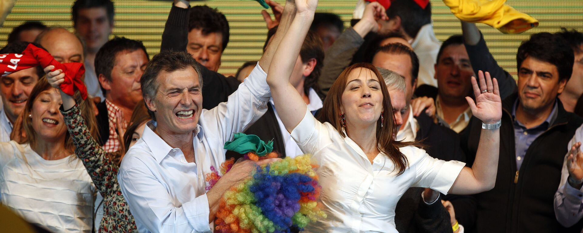 Candidato presidencial en Argentina, Mauricio Macri y candidata a gobernar la provincia de Buenos Aires, María Eugenia Vidal - Sputnik Mundo, 1920, 31.03.2021