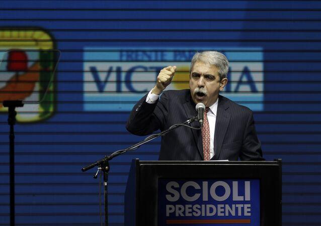 Aníbal Fernández, candidato a la gobernación de la provincia de Buenos Aires