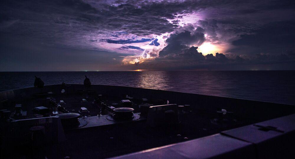 Un rayo en el mar de la China Meridional (archivo)