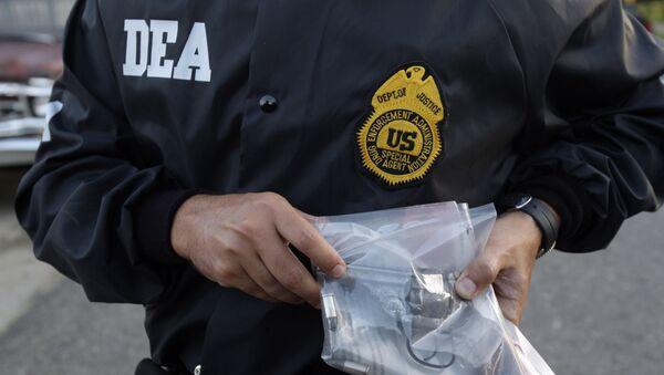 Agente de policìa de la DEA - Sputnik Mundo