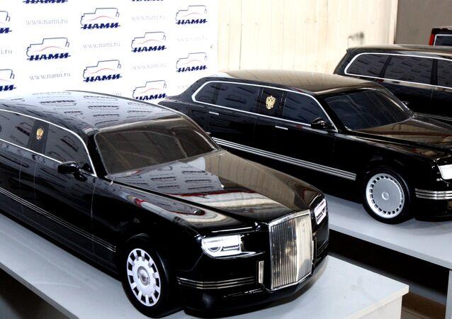 Modelos de limusinas para altos dirigentes rusos