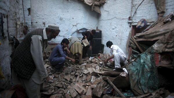 Consecuencias del terremoto en Pakistán - Sputnik Mundo