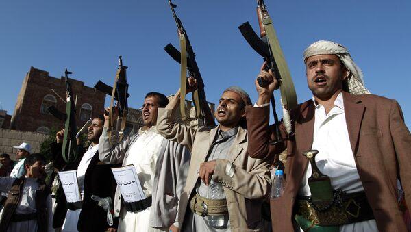 Rebeldes en Saná, Yemen (archivo) - Sputnik Mundo