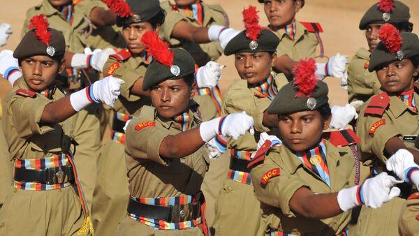 Miembros del Cuerpo de Cadetas Nacional de la India - Sputnik Mundo