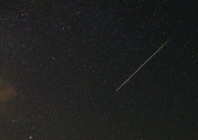 Caída de meteorito (imagen referencial)