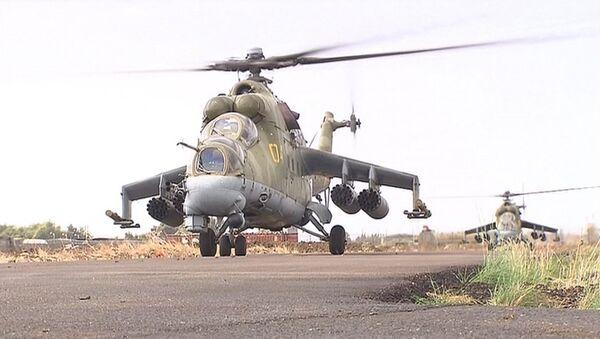 Helicópteros Mi-24 en Latakia - Sputnik Mundo
