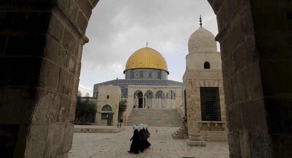 Cúpula de la Roca en la Explanada de las Mezquitas de Jerusalén