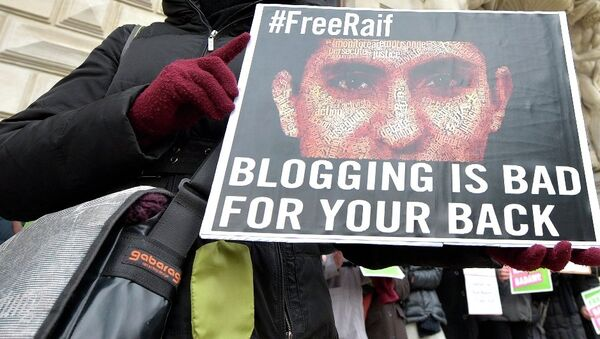 Manifestación a favor del bloguero saudí Raif Badawi - Sputnik Mundo