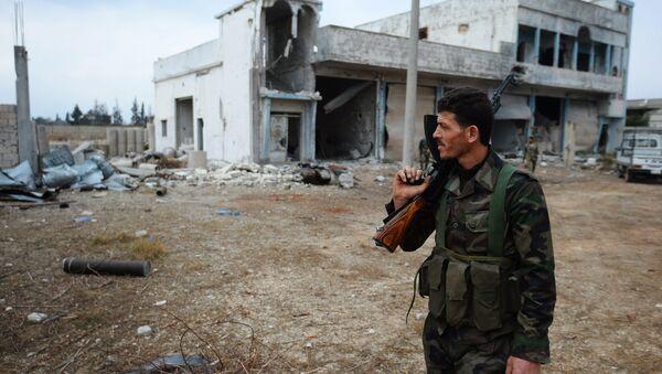 Soldado del Ejército sirio - Sputnik Mundo