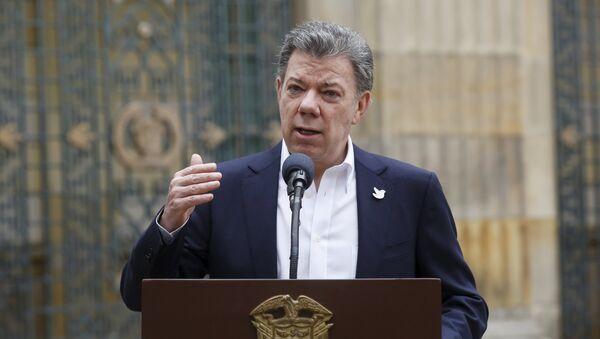 Presidente de Colombia, Juan Manuel Santos - Sputnik Mundo