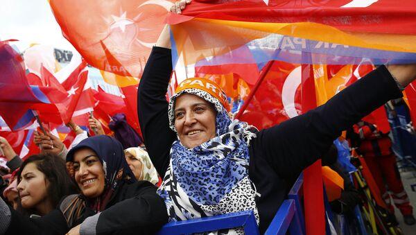 Seguidores del partido en el Gobierno de Turquía, Partido de la Justicia y el Desarrollo - Sputnik Mundo