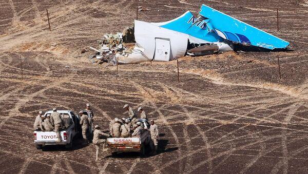 Los restos del Airbus-321 siniestrado en Egipto - Sputnik Mundo
