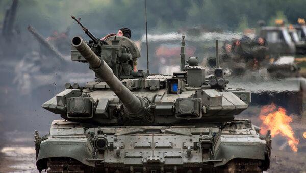 Tanques ruso T-90S (imagen referencial) - Sputnik Mundo