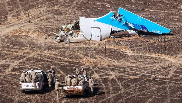 Restos del Airbus-321 siniestrado en Egipto - Sputnik Mundo