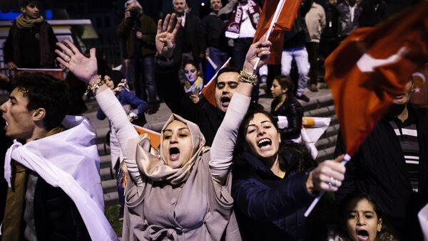 Seguidores del gobernante Partido de la Justicia y el Desarrollo (AKP) - Sputnik Mundo