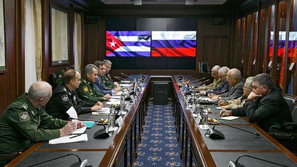 Las banderas de Cuba y Rusia - Sputnik Mundo