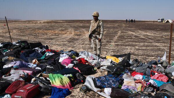 Maletas y cosas personales de los pasajeros del A321 en el lugar del siniestro en Egipto - Sputnik Mundo