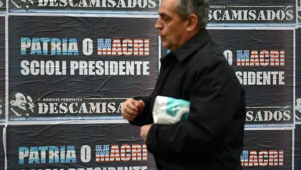 Propaganda del candidato a la presidencia argentina Daniel Scioli en Buenos Aires - Sputnik Mundo
