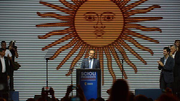 Candidato oficialista Daniel Scioli en el cierre de la campaña electoral en Buenos Aires, Argentina - Sputnik Mundo