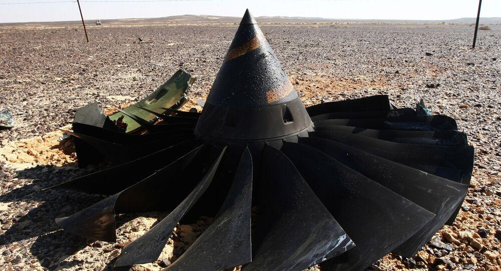 Los restos del avión ruso Airbus-321 siniestrado en Egipto