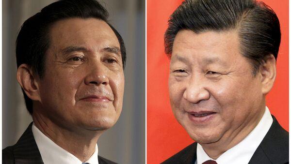 Presidente de Taiwán, Ma Ying-jeou, y presidente de China, Xi Jinping - Sputnik Mundo