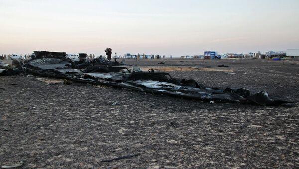 Lugar del siniestro del avión ruso A321 en Egipto - Sputnik Mundo