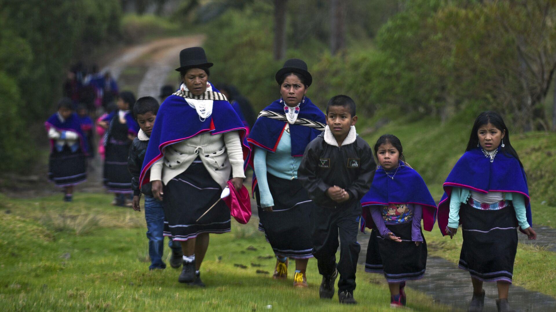 Una de las comunidades indígenas de Colombia - Sputnik Mundo, 1920, 09.06.2021