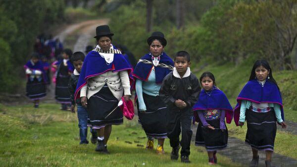 Una de las comunidades indígenas de Colombia - Sputnik Mundo