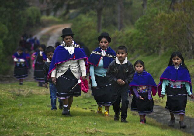 Una de las comunidades indígenas de Colombia