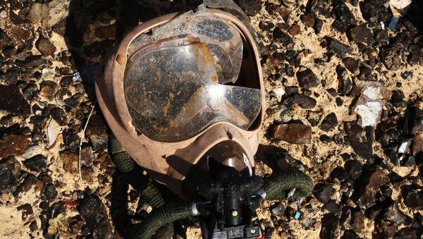 Máscara de oxigeno en los restos del Airbus-321 - Sputnik Mundo