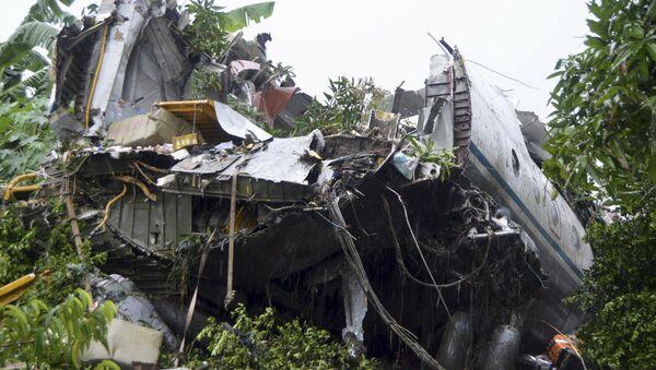 Restos del avión de carga An-12 siniestrado en Sudán del Sur - Sputnik Mundo
