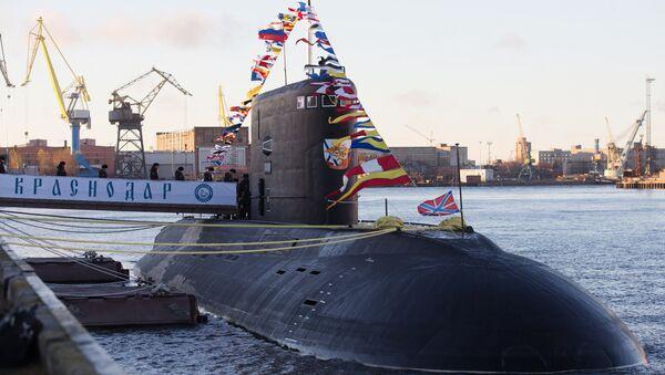 Submarino ruso de la clase Varshavyanka 'Krasnodar' (archivo) - Sputnik Mundo