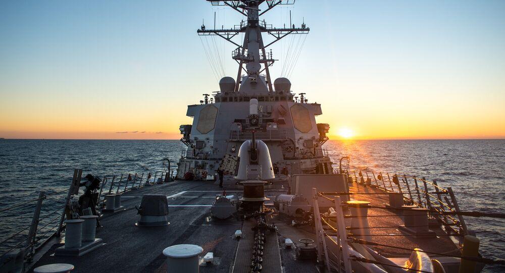 USS Donald Cook en el mar Mediterráneo (archivo)