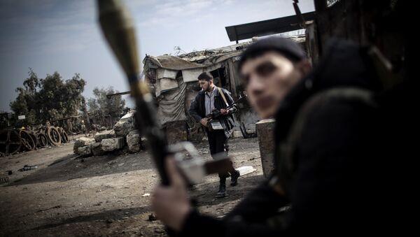 Combatientes del Ejército Libre Sirio en Alepo (Archivo) - Sputnik Mundo